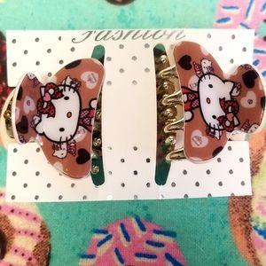 🎉3 for $25 Fashion Hello Kitty Hair Clips
